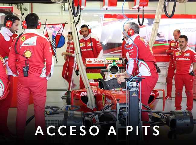 accesos, acceso a pits, formula 1, pits, paddock, carrera de autos, carrera de coches, coches de carreras, entradas preferentes, entradas exclusivas, accesos vip, vip